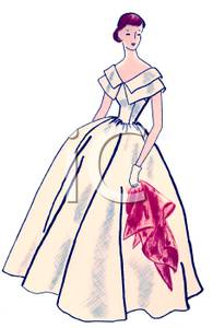 Gown clipart evening gown Gown A Clipart Thin Clipart