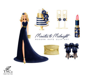 Gown clipart evening gown Gold Fashion Commercial illustration gown