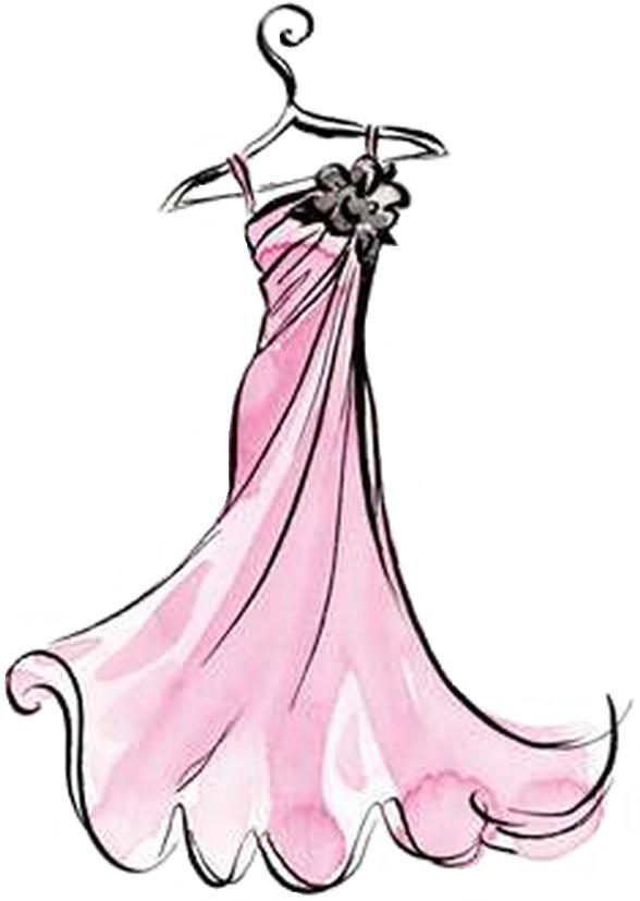 Gown clipart fancy dress Frocks home  Fancy
