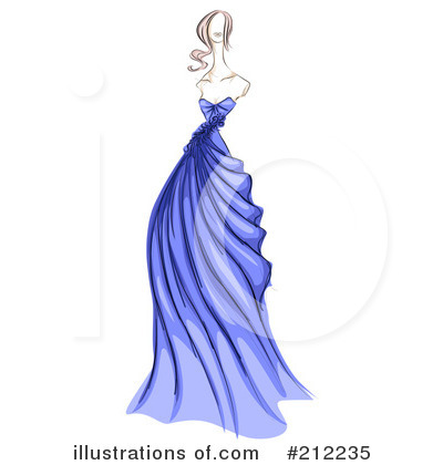 Gown clipart fashion design Free Design Sample Stock Illustration
