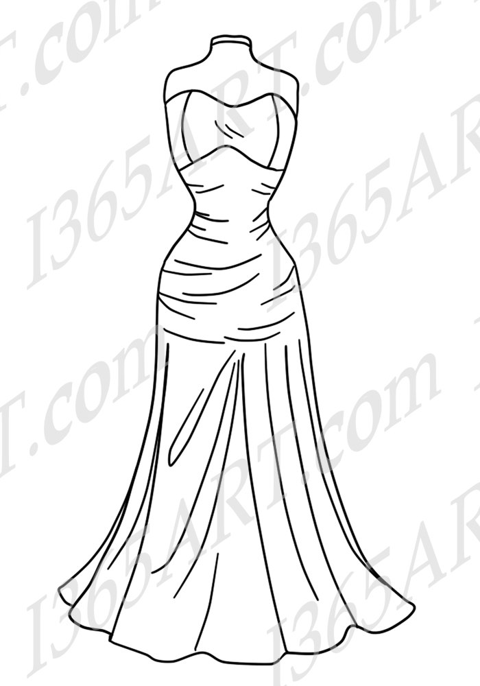 Gown clipart fashion dress Blue art  50% This
