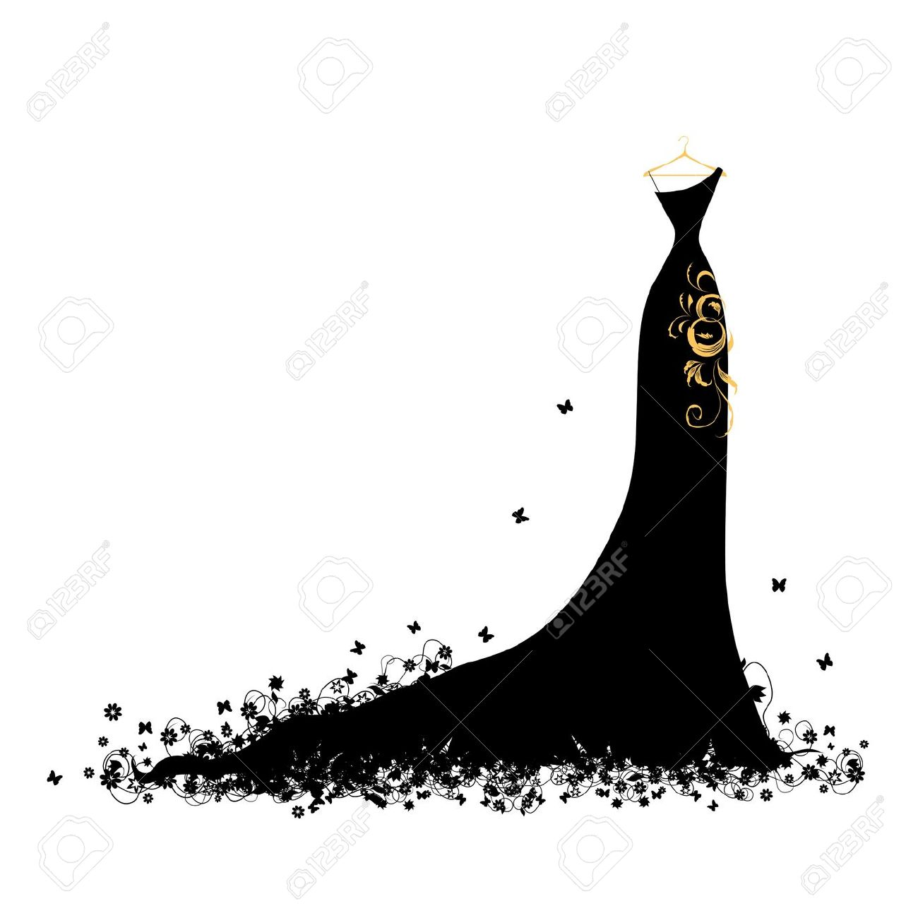 Gown clipart fashion dress Silhouette lady lady Google Search