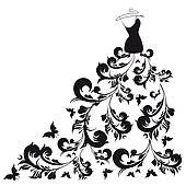 Gown clipart formal dress Diva wedding Clip a in