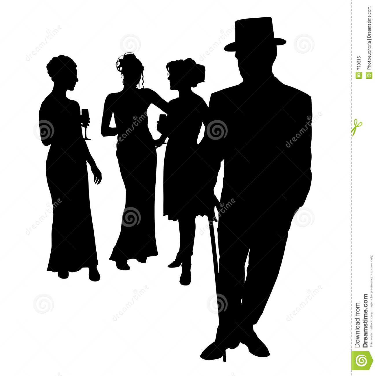 Shadow clipart prom #8