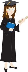 Gown clipart graduate And graduate in Female with