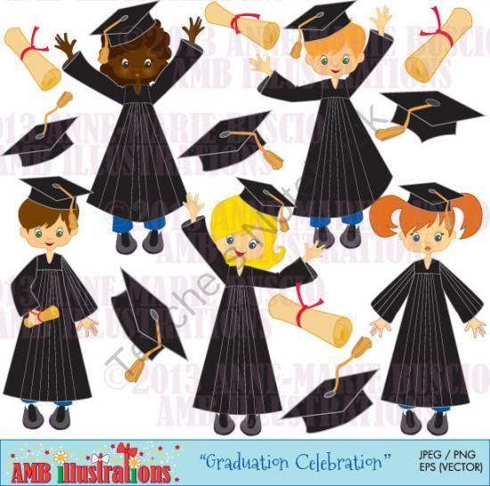 Gown clipart graduation gown K w*black Pre out Graduation