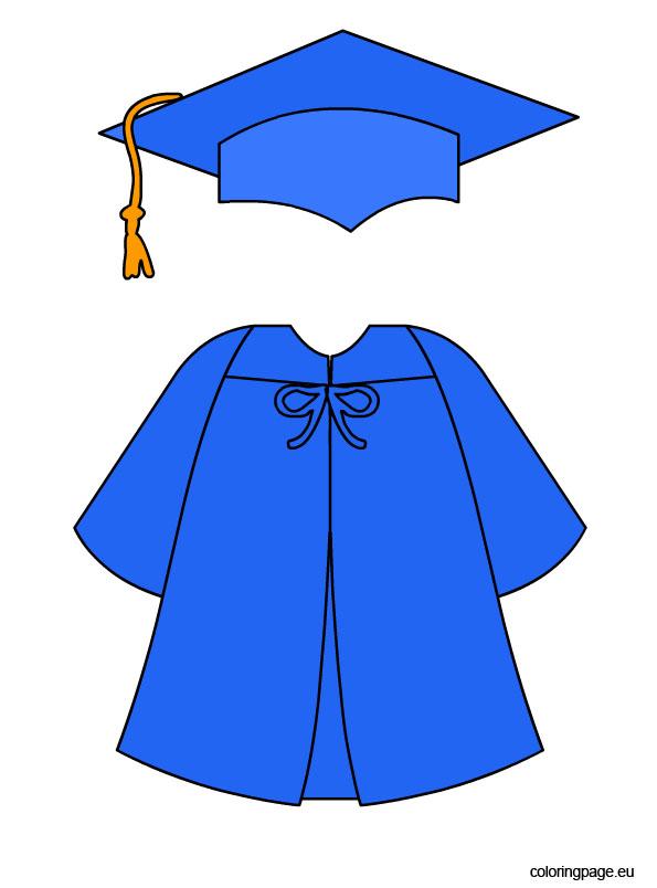 Gown clipart graduation gown @ JUNE GRADUATION Graduation Coloring