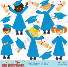 Gown clipart graduation robe Blue pages)  (14 diploma