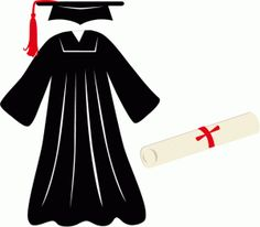 Gown clipart graduation robe Pin Design Silhouette Silhouettes this