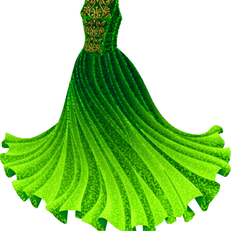 Gown clipart green Princess  Paper Green Gown