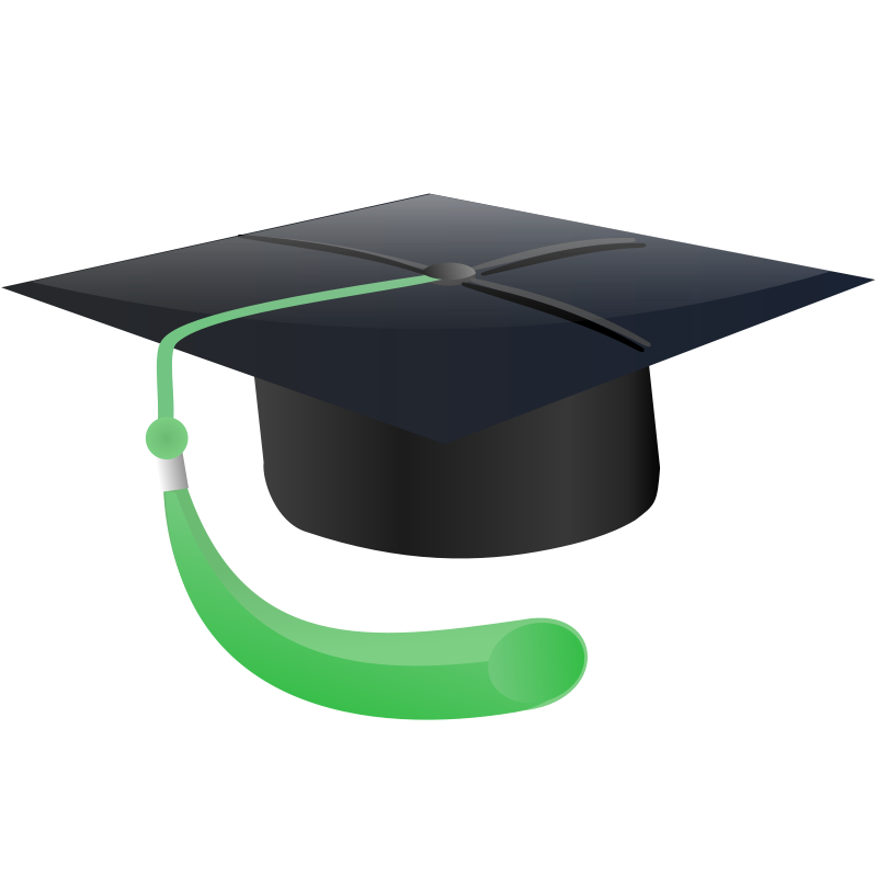 Gown clipart green Free green Education tastle Graduation