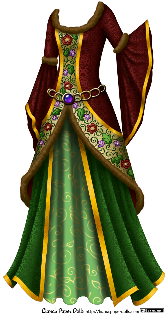 Gown clipart green dress Underskirts neck Liana's and The