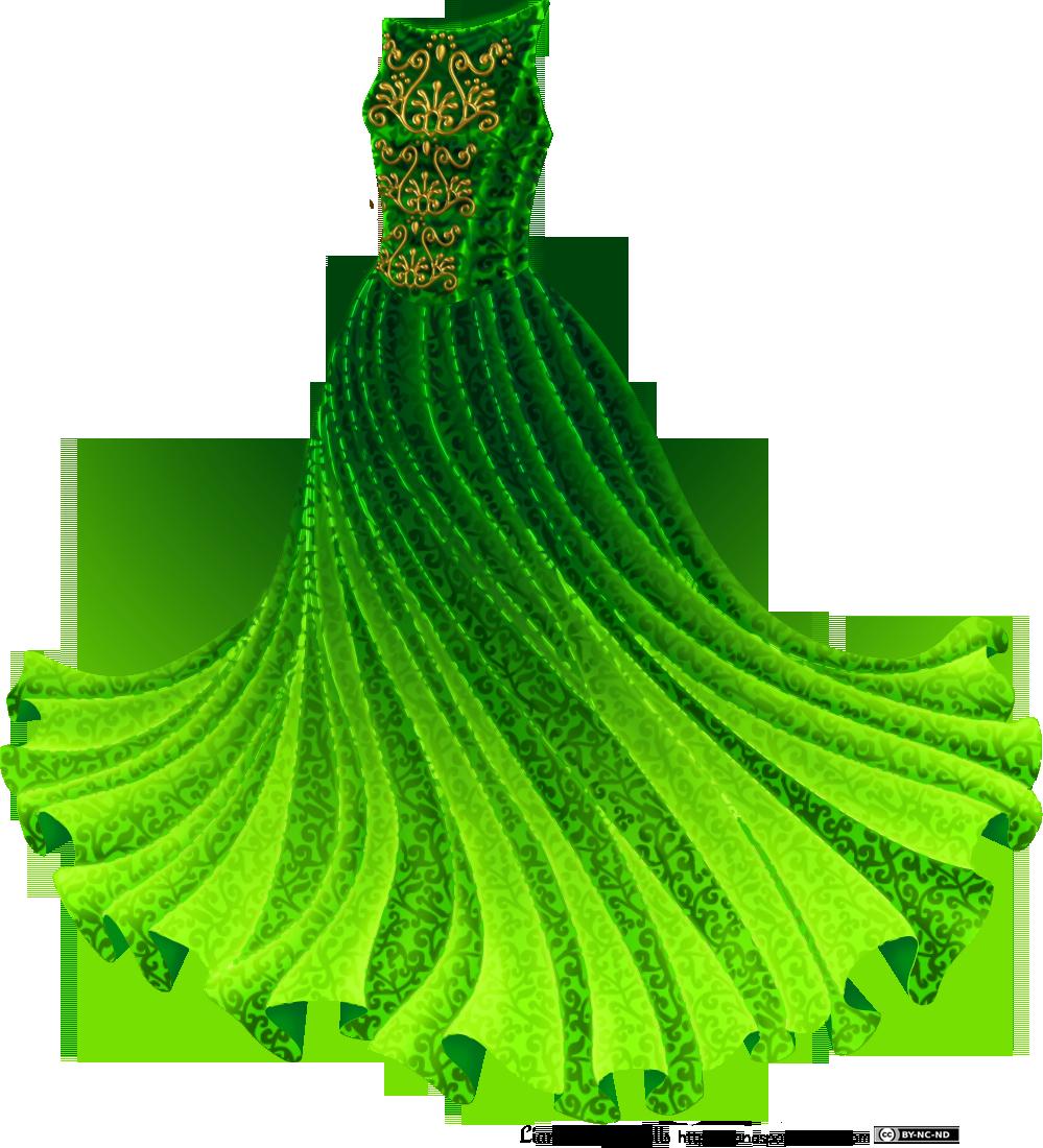 Green Day clipart green dress Princess Gown Dolls Green Green