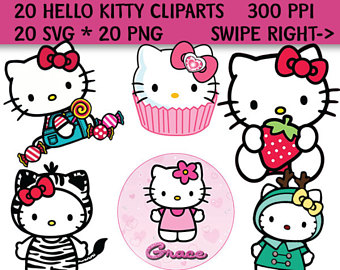 Gown clipart hello kitty Kitty SVG Kitty PNG Hello
