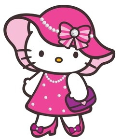 Heh clipart speech bubble Hello stylish dress Hello Kitty