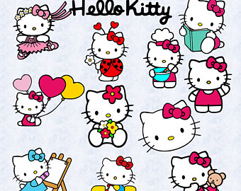 Gown clipart hello kitty Svg kitty hello printable Etsy