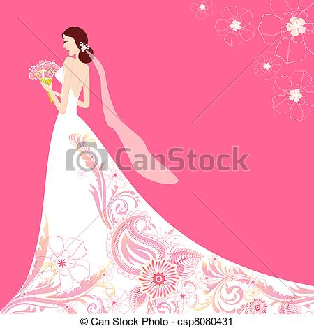 Gown clipart illustration Illustration  Vector of Clip