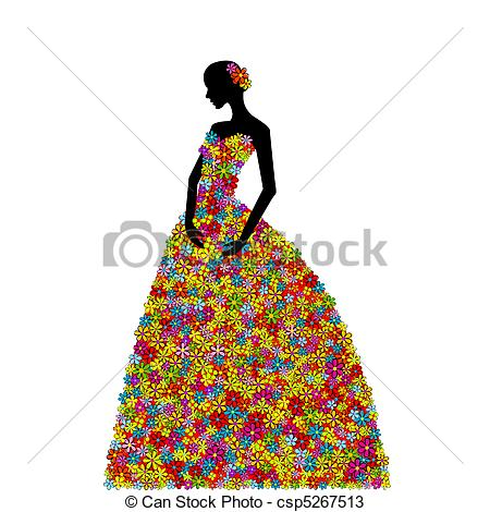 Gown clipart illustration Search dress Woman Drawings Illustration