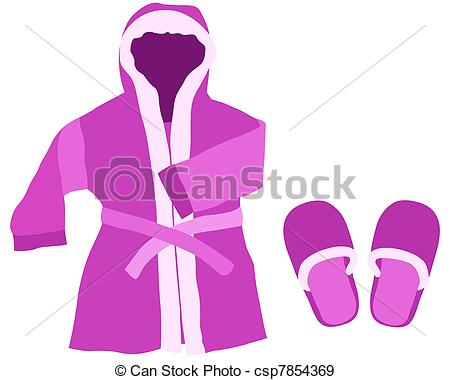 Gown clipart illustration Dressing slippers gown gown a