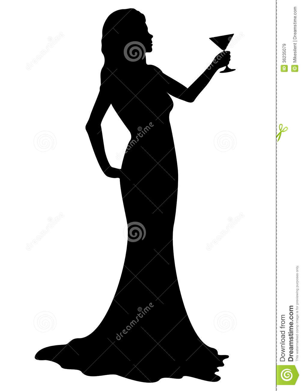 Gown clipart lady dress Girl with Free Cocktail Art
