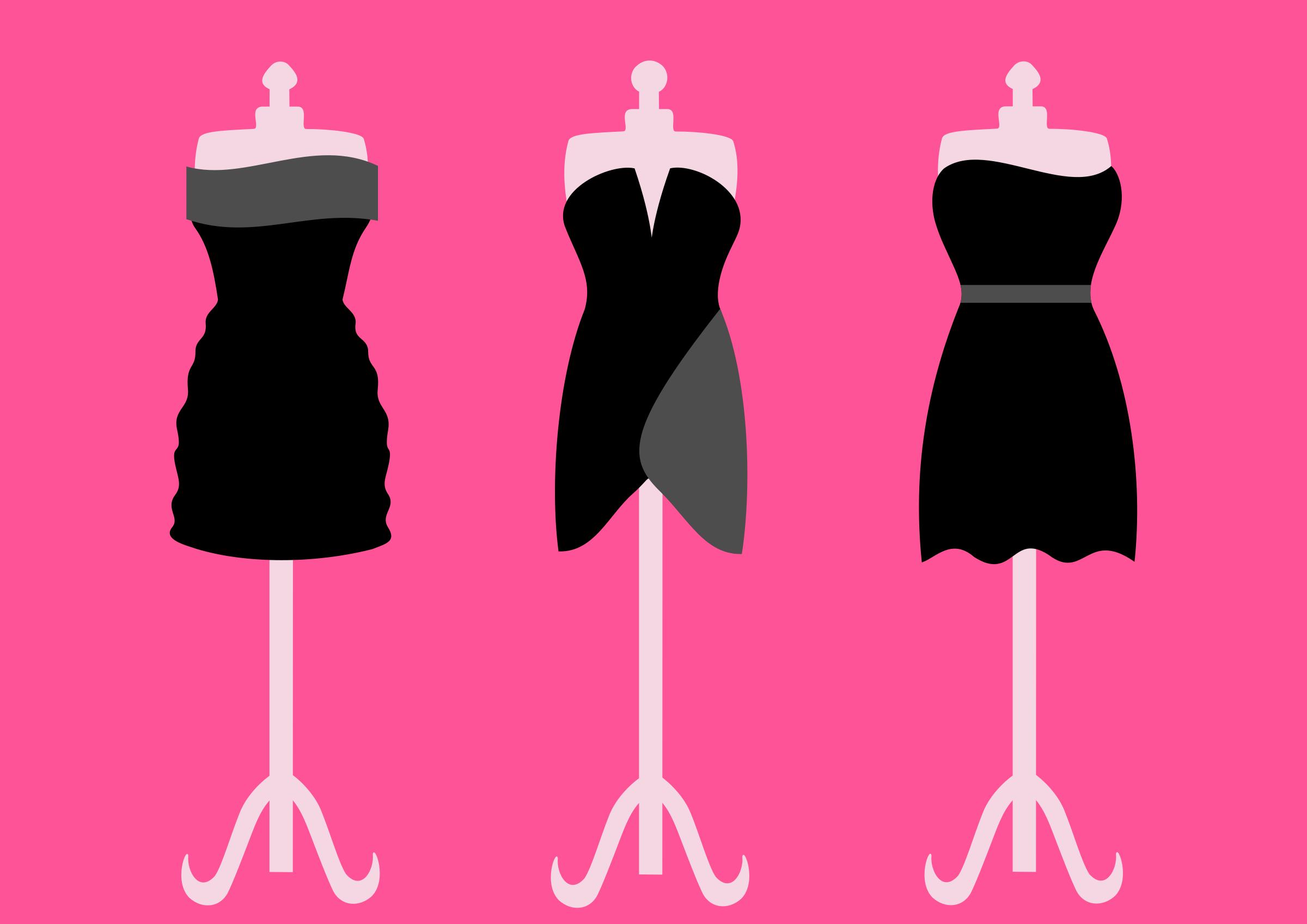 Gown clipart little black dress Dresses dresses black Three Clipart