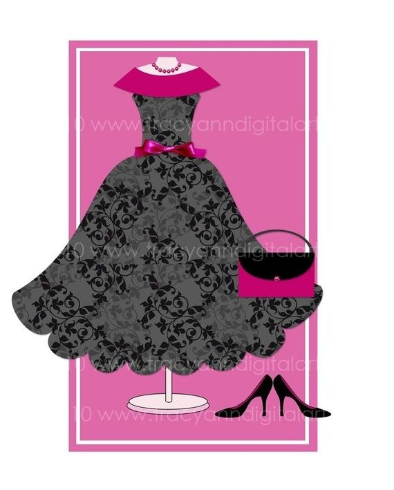Gown clipart little black dress Pinterest and on black Little