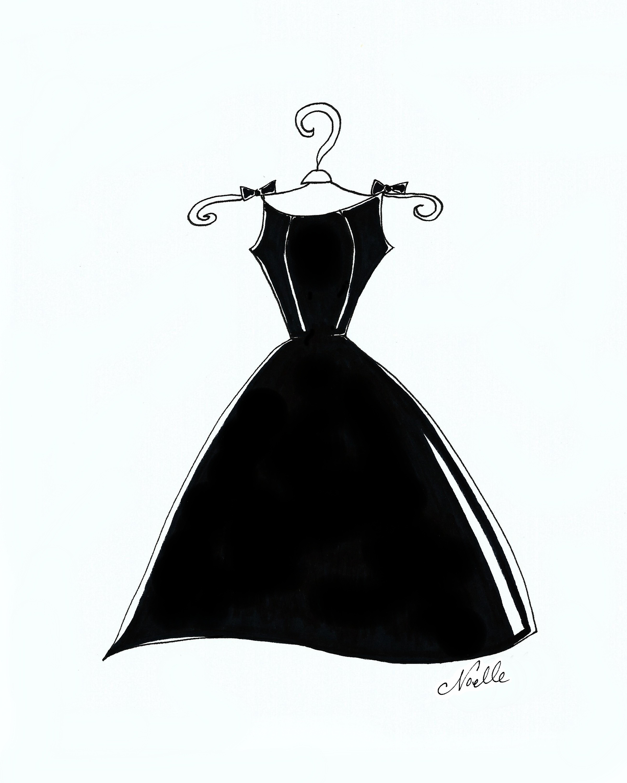 Gown clipart little black dress Christen Dress Black Little 8x10