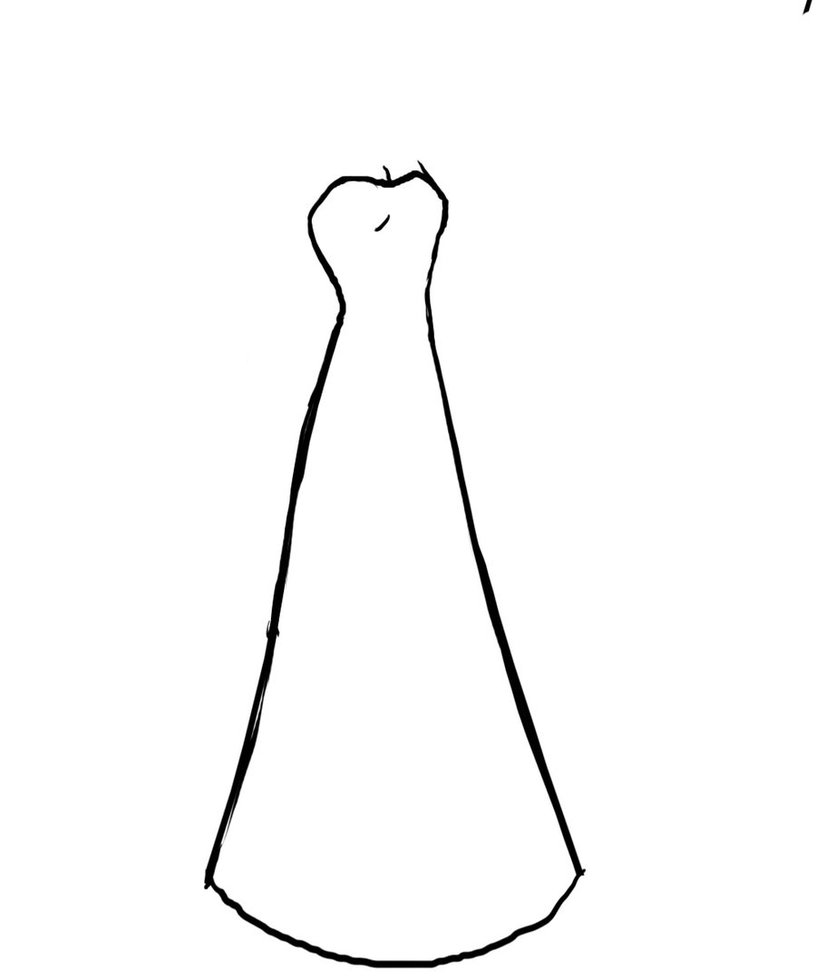 Gown clipart long dress Dress Free Outline wedding%20dress%20clipart%20outline Clipart