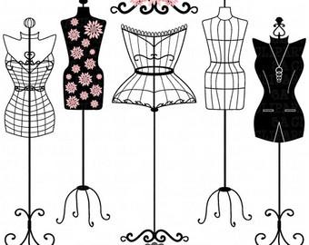 Gown clipart manikin Dummy mannequin Mannequin SILHOUETTE