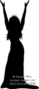 Gown clipart pageant Beauty Art Winner Silhouette Image