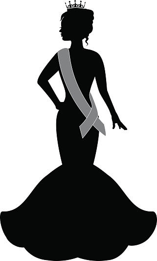 Gown clipart pageant Download dress Girl Art Free