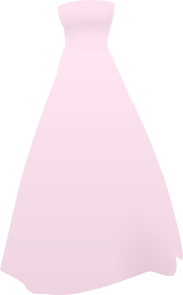Gown clipart pink dress Free royalty art Art Clker