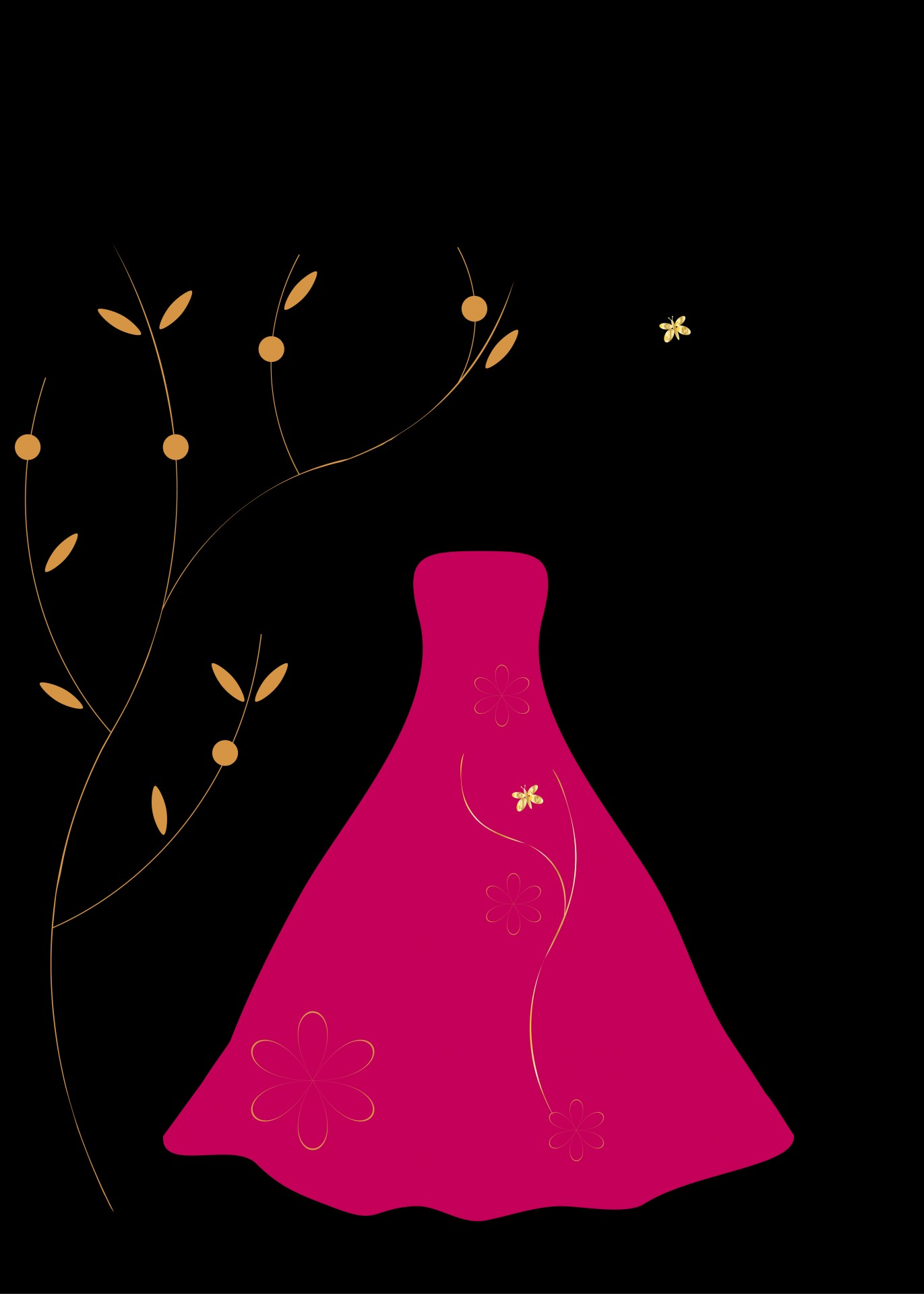 Pink Dress clipart gown #3