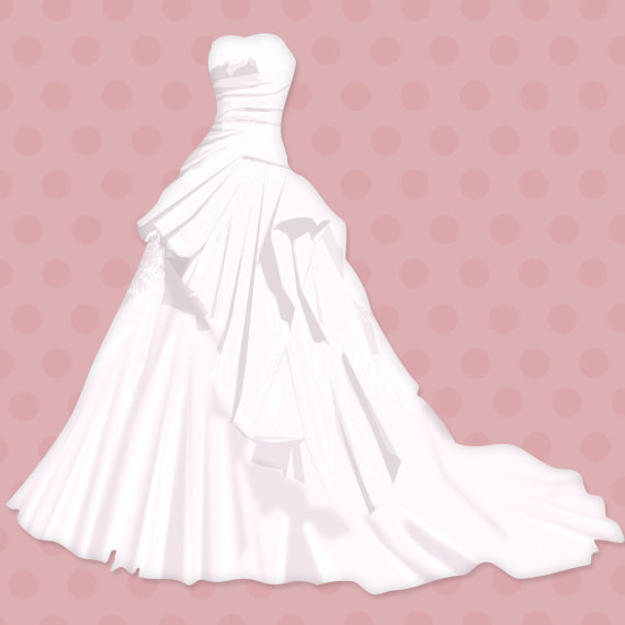 Gown clipart pink dress Instant images Commercial Download clip