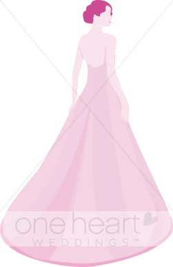 Gown clipart pink dress Pink Bride Clipart Gown Gown