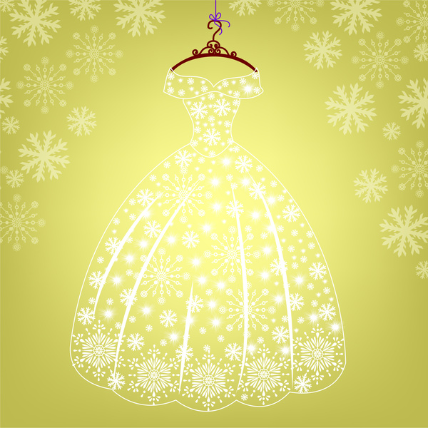 Gown clipart princess costume Vector commercial glowing dress princess