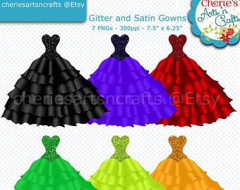 Gown clipart purple dress Clip Etsy Dress Gowns Evening