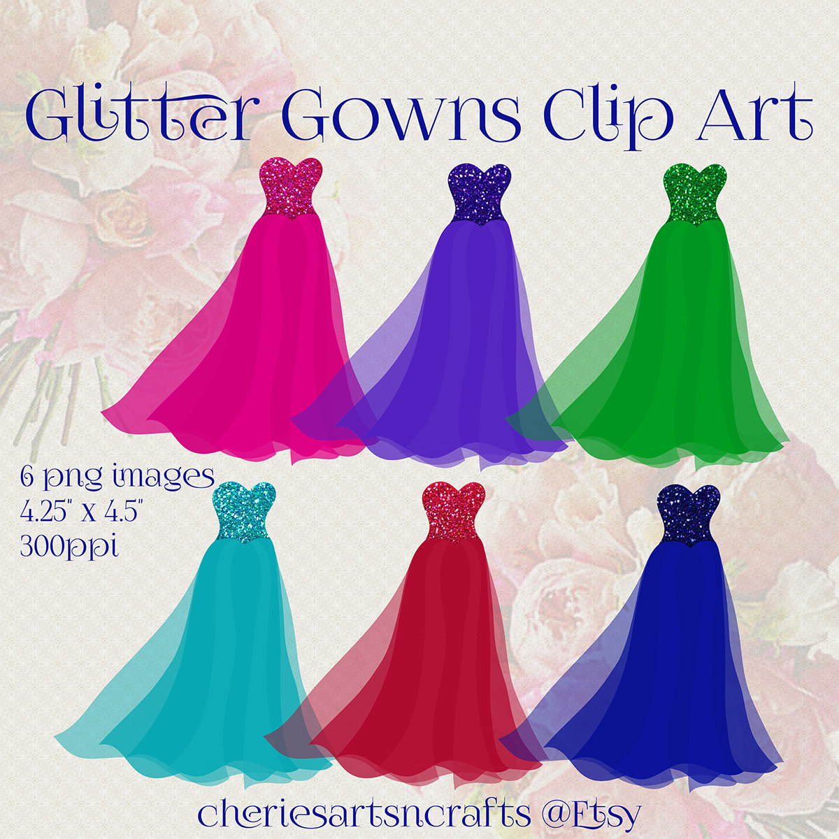 Gown clipart quinceanera dress Glitter of Clipart 6 Quinceanera