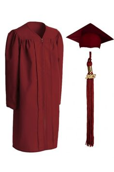 Gown clipart robe Granduation red cap cap and