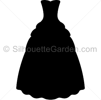 Gown clipart silhouette Gown Silhouette Silhouette