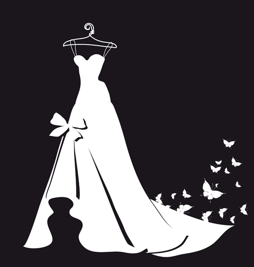 Gown clipart silhouette A The  silhouettes dress
