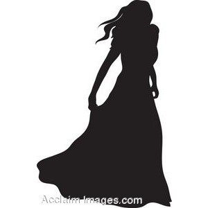 Gown clipart silhouette Clip the an of Clip