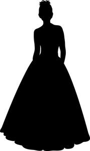 Gown clipart silhouette Bride%20Clip%20Art Art Dress Panda Free