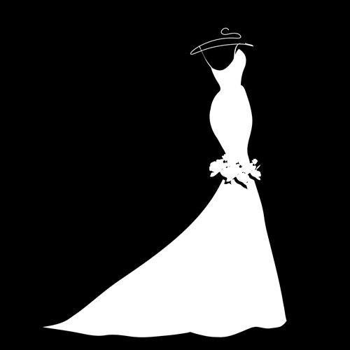 Gown clipart silhouette Silhouette Gown_Wedding Gown Dresses_dressesss Wedding