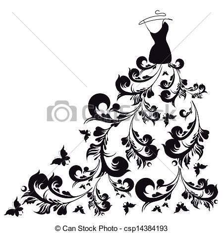 Gown clipart vector Of dress dress vector