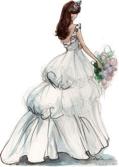 Gown clipart vintage wedding dress Vintage Clip Wedding Dress Vintage