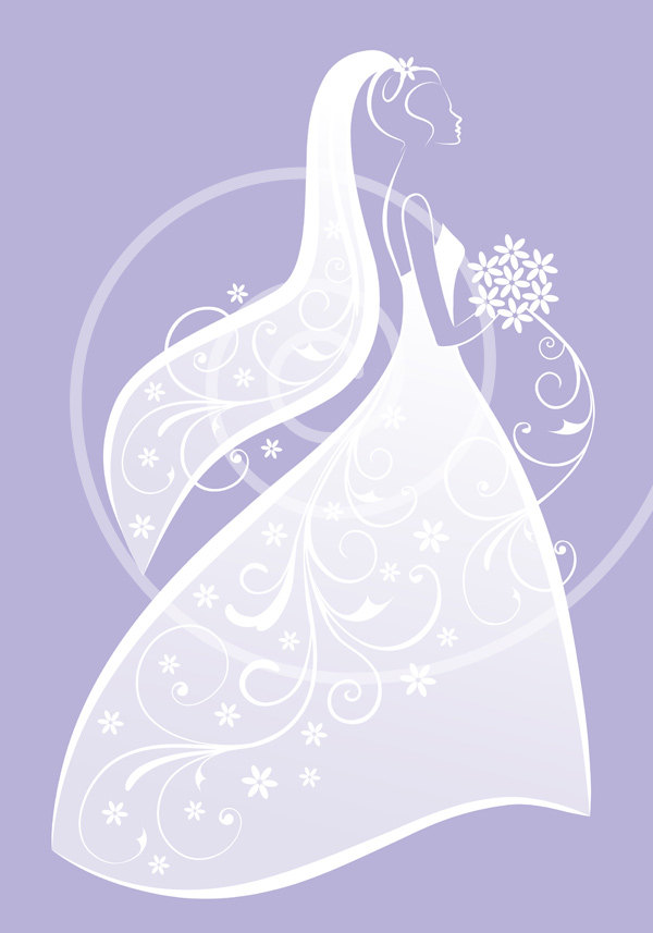 Gown clipart violet Wedding clipart elegant dress in