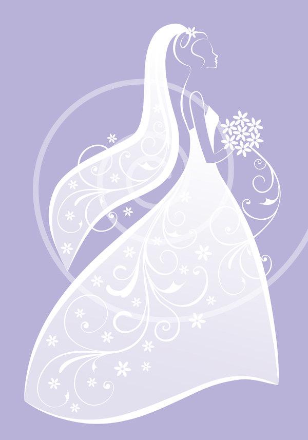 White Dress clipart printable #2