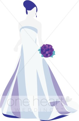 Gown clipart violet With Clipart Clipart Clipart Bride