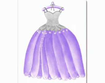 Gown clipart violet Rl Purple Princess Dress Kids